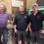3 x 20 år hos Thaarups Tømrerforretning
